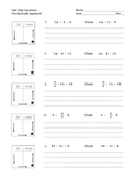 Solving Two Step Equations with a Do/Undo chart