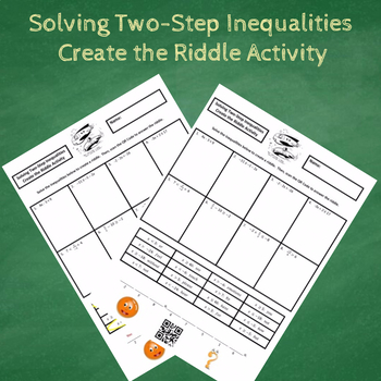 Solving Two-Step Inequalities Create the Riddle Activity