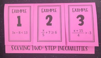 Solving Two- Step Inequalities (Foldable)