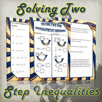 Solving Two Step Inequalities- (Guided Notes and Practice)