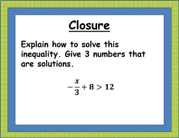 Solving Two-Step Inequalities Lesson