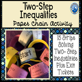 Solving Two Step Inequalities Paper Chain Activity