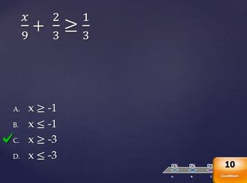 Solving Two-Step Inequalities (Quick Check)