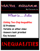 Solving Two Step Inequalities Joke Riddle