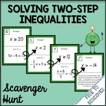 Solving Two-Step Inequalities Scavenger Hunt