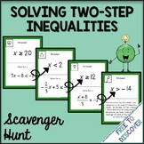 Solving Two Step Inequalities Scavenger Hunt Activity