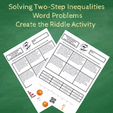 Solving Two-Step Inequalities Word Problems Create the Rid