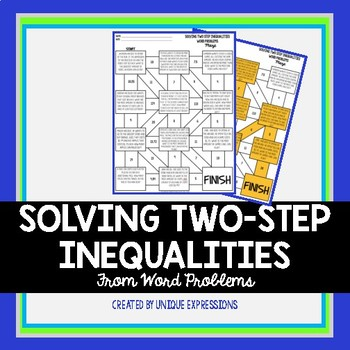 Solving Inequalities from Word Problems Maze