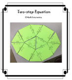Solving Two-step Equation Tarsia Puzzle and Worksheet