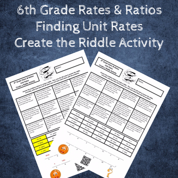 Solving Unit Rate Word Problems Create a Riddle Activity