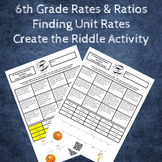 Finding Unit Rate Create a Riddle Activity