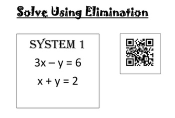 Solving Using Elimination with QR Codes