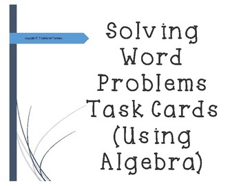Solving Word Problem Task Cards