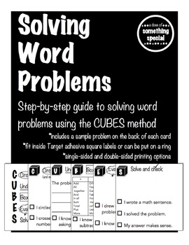 Solving Word Problems Flip Cards