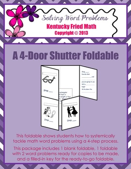 Solving Word Problems Foldable for Interactive Notebook Middle School & HS Math