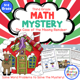 3rd Grade Word Problems - Math Mystery-Case of the Missing