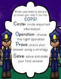 Solving Word Problems Strategy COPS for Alternative CUBES Math Strategies Poster