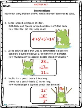 Solving Word Problems That Involve Measurement Terms