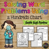 Word Problems Using a Hundreds Chart (Double Digit Numbers)