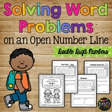 Word Problems Using a Number Line (Double Digit Numbers)
