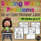 Word Problems Using a Number Line (Number up to 20)