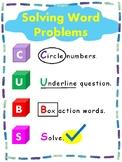 Solving Word Problems for kinder