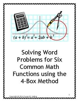 Solving Word Problems of Six Common Math Functions using a