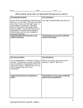 Solving Word Problems of Six Common Math Functions using a Graphic Organizer