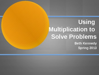 Solving Word Problems with Multiplication