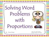 Solving Word Problems with Proportions Activity