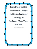Solving Word Problems with Cognitively Guided Instruction-