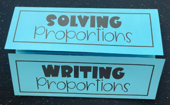 Solving & Writing Proportions (Foldable)