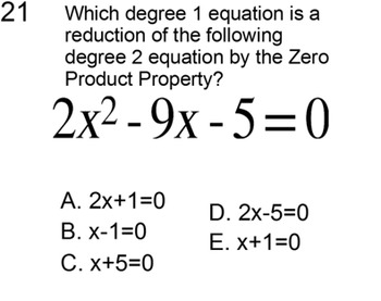Solving a Quadratic Equation by Factoring, Intro + 6 Assignments for Power Point