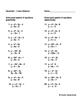 Solving a Quadratic   Linear System by Dawn Facciolo   TpT besides Alge 2 Radicals Math Graphing Radicals Worksheets Quadratic in addition Simultaneous Equations – One Linear  One Quadratic worksheet  with moreover Alge 1 Worksheets   Quadratic Functions Worksheets besides  additionally  likewise  likewise Graphing Lines In Slope Intercept Form Math Graphing Linear besides Function Worksheets moreover 10 Awesome From Linear to Quadratic Worksheet Pics   grahapada in addition 37 New Gallery Of solving Quadratic Equations Worksheet with Answers likewise  together with Linear to Quadratic Worksheet 14 2 Answers New Systems Of Quadratic moreover Word Problem Equations Worksheet Inspirational Word Problems Linear further Linear Quadratic Systems Worksheet Worksheet Part 3 moreover Alg  II   Solving Linear Quadratic Systems Algeically  Simple. on from linear to quadratic worksheet
