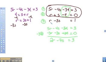 Solving a System of 3 equations with 3 variables