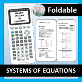 TI-84 Graphing Calculator Foldable: Solving a System of Equations
