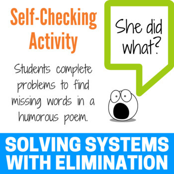 Solving a System of Equations with Elimination - Fun Limerick Activity