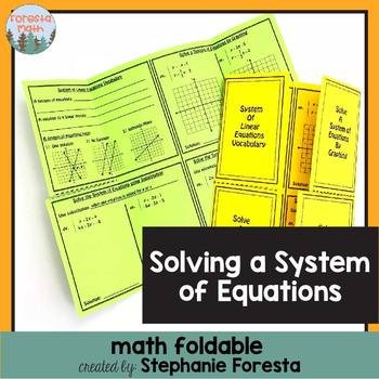 Solving a System of Equations Foldable