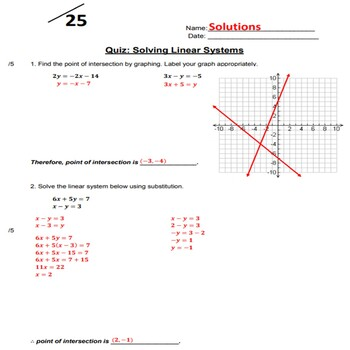 Quiz: Solving a System of Linear Equations
