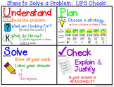 Solving a Word Problem with UPS Check Anchor Chart Posters, Notes, & Foldable