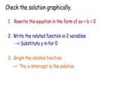 Solving a linear equation by graphing smartboard lesson