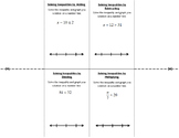 Solving and Graphing 1-Step Inequalities (no negatives!)