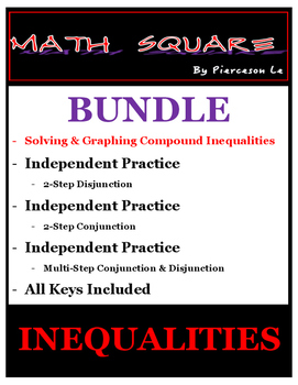 Solving and Graphing Compound Inequalities BUNDLE
