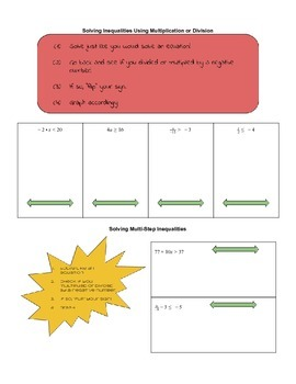 Solving and Graphing Inequalities - Guided Notes