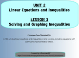 Solving and Graphing Inequalities (Math 1)