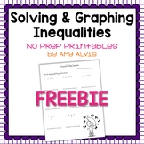 Solving and Graphing Inequalities NO PREP Printable FREEBIE