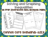 Inequalities Interactive Notebook
