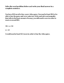 Solving and Graphing Inequalities Worksheet