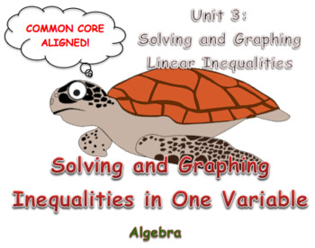 Solving and Graphing Inequalities in One Variable