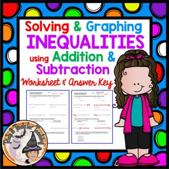 Solving and Graphing Inequalities using Addition and Subtraction Worksheet